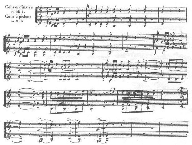 Ilustración 9. Fragmento de las partes para trompeta de la ópera La Judía