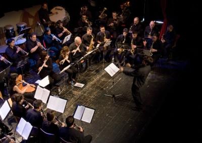 Amb la banda de l'Associació Musical Pau Casals a Mollet (2012)