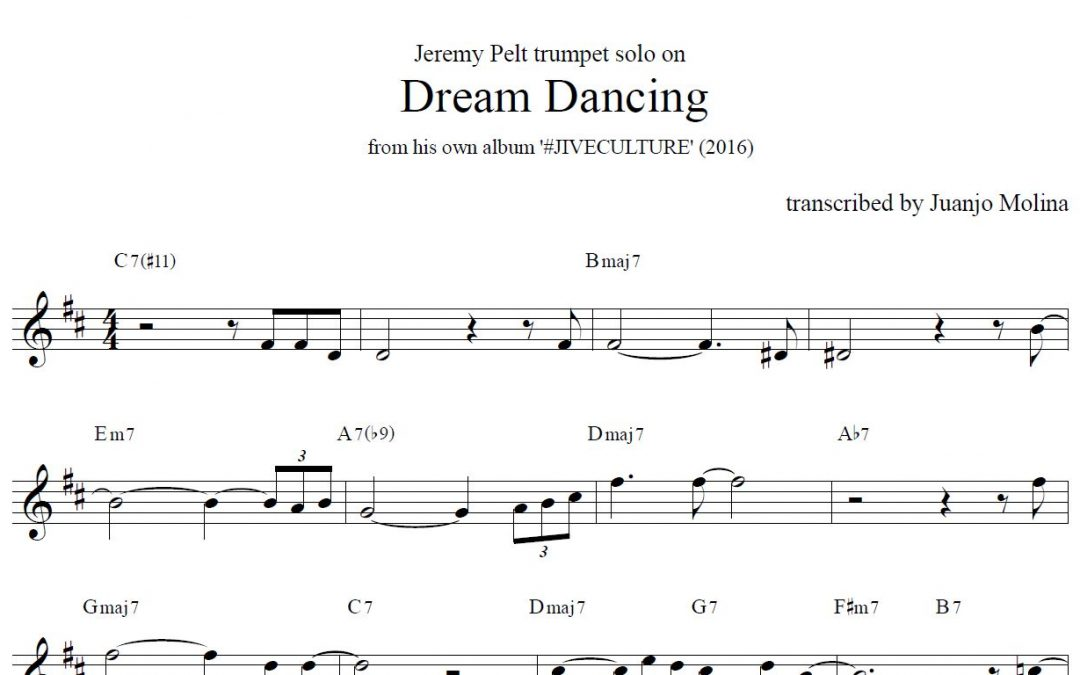 Dream Dancing – Jeremy Pelt trumpet solo transcription