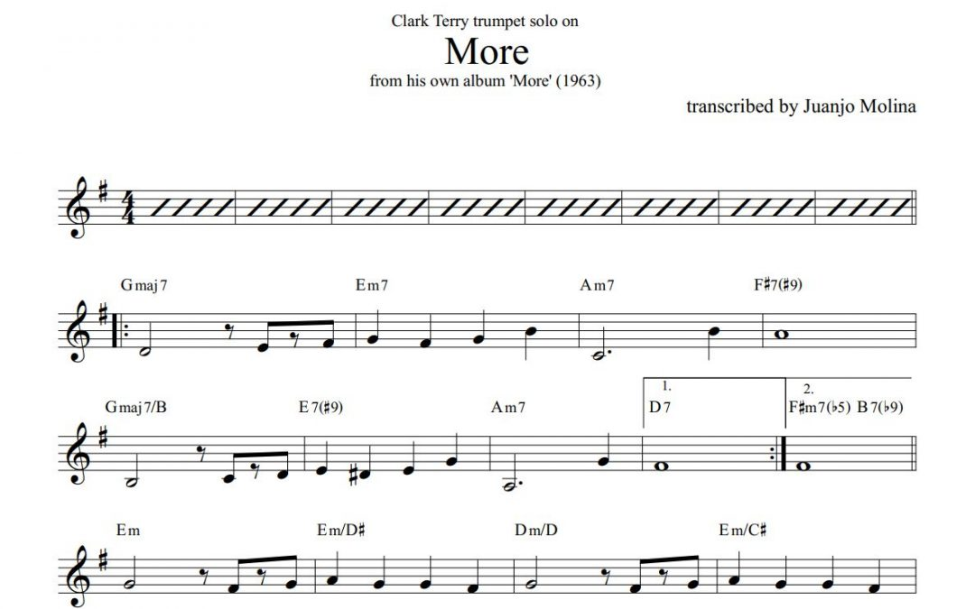 More – Clark Terry trumpet solo transcription