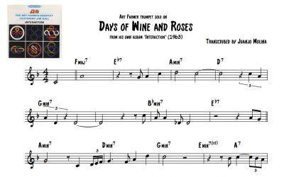Days of Wine and Roses – Art Farmer trumpet solo transcription