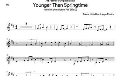Younger than springtime – Art Farmer trumpet solo transcription